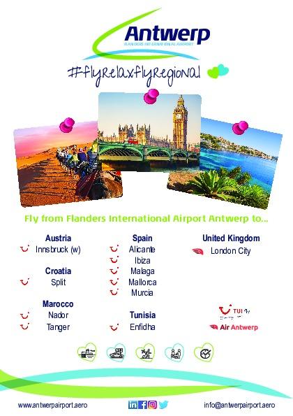 Destinations Antwerp Airport